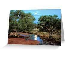 Outback Moonrise Greeting Card