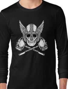 Thor Helmet and Hammers Long Sleeve T-Shirt