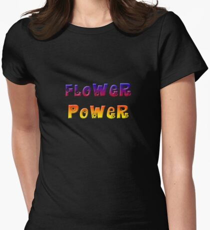 Flower Power 2 Womens Fitted T-Shirt