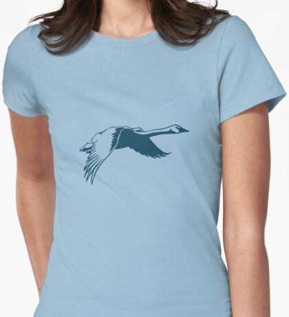 Goose in Flight Womens Fitted T-Shirt