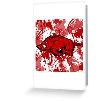 Go Razorbacks! Greeting Card