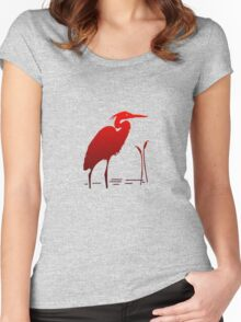 Red Crane Women's Fitted Scoop T-Shirt