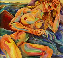 Contentment of the Sleeping Nude (Acrylics)- by Robert Dye