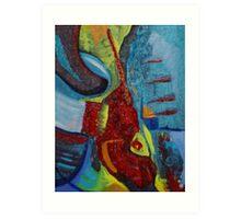 Eruption (Acrylics)- Art Print