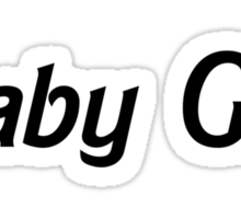 Baby Girl - Black  Sticker