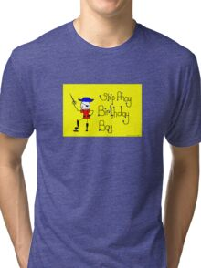 Ship Ahoy Birthday Boy Tri-blend T-Shirt