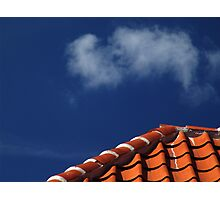 sunny roof under the sky Photographic Print