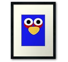 Minimalist Angry Birds - Blue Bird Framed Print