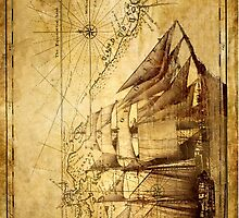 Antiques sailing map by Tony  Bazidlo