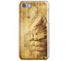 Antiques sailing map iPhone Case/Skin