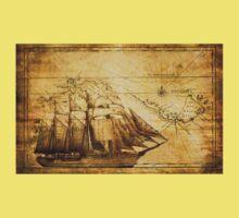 Antiques sailing map Kids Clothes
