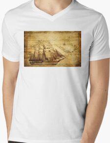 Antiques sailing map Mens V-Neck T-Shirt