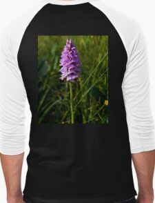 Spotted Orchid, Kilclooney, Donegal Men's Baseball ¾ T-Shirt