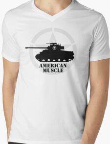 American Muscle WW2 Mens V-Neck T-Shirt