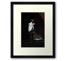 Her Day Is A Silver Frock Framed Print