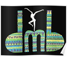 DMB Firedancer Aztec with black background Poster