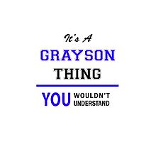 It's a GRAYSON thing, you wouldn't understand !! by thenamer