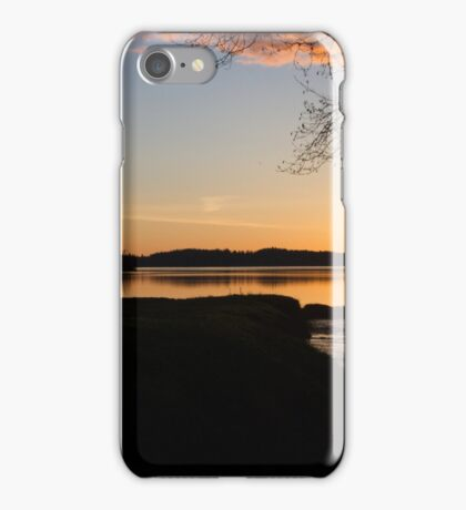 The Final Moments of a Sunset Over Water iPhone Case/Skin