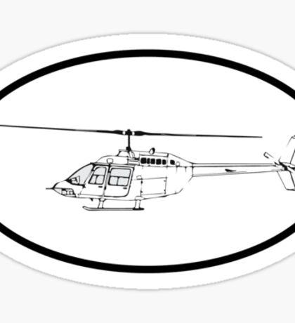 Bell 206 Jet Ranger (side) Sticker