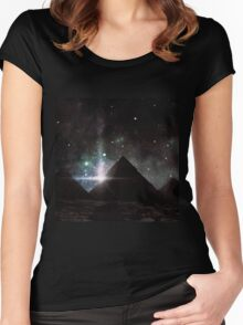 Pyramid Nights Women's Fitted Scoop T-Shirt