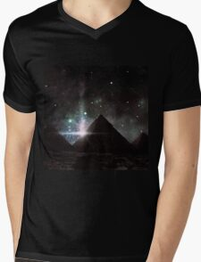 Pyramid Nights Mens V-Neck T-Shirt