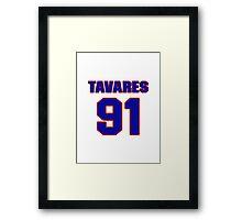 National Hockey player John Tavares jersey 91 Framed Print