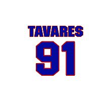 National Hockey player John Tavares jersey 91 Photographic Print