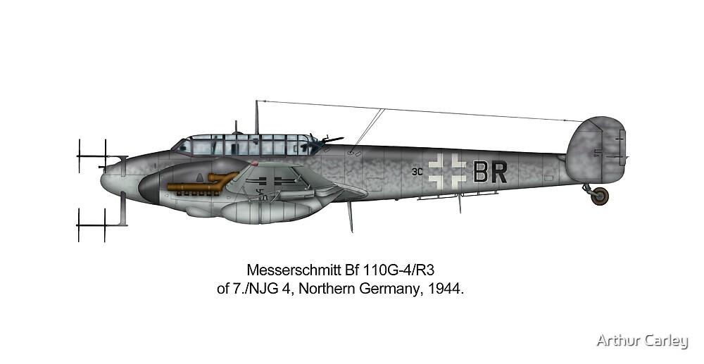 BF 110 G-4 R3 Night Fighter by Arthur Carley