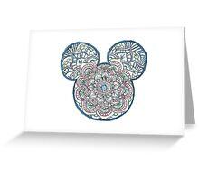 Mickey Mouse Mandala Disney Greeting Card