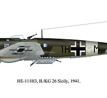 HE 111H-3 German WWII Bomber by Arthur Carley