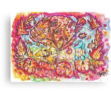 Pokemon Autumn Scene! Canvas Print