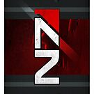 N7 sheild textured background by Tony  Bazidlo