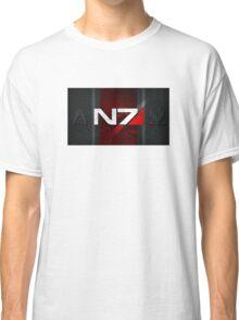 N7 sheild textured background Classic T-Shirt