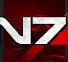 N7 sheild textured background Sticker