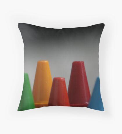 Crayons Throw Pillow