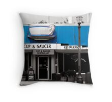 Cup and Saucer Throw Pillow