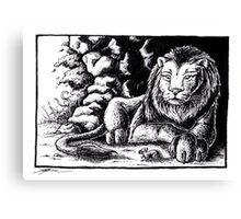 The lion and the mouse Canvas Print