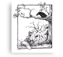 The fox and the raven Canvas Print