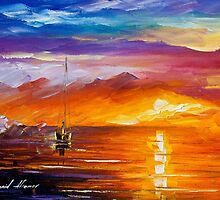 Lonely Sea — Buy Now Link - www.etsy.com/listing/213958226 by Leonid  Afremov