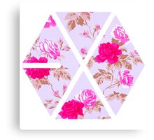 EXO - Floral Canvas Print