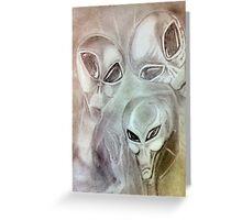 alien greys (pencils) Greeting Card