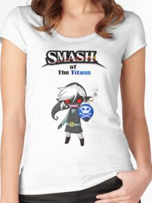 Smash of the Titans - Dark Toon Link Women's Fitted Scoop T-Shirt