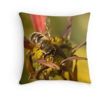 Bee at Callaway Throw Pillow