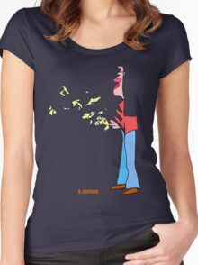 Bird Man Women's Fitted Scoop T-Shirt