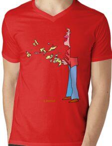 Bird Man Mens V-Neck T-Shirt