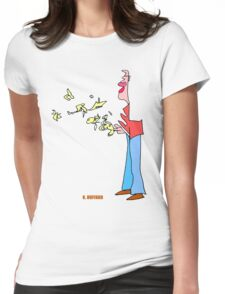 Bird Man Womens Fitted T-Shirt