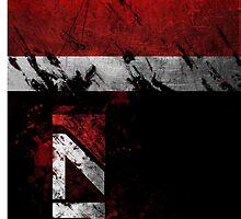 Mass Effect N7 distressed by Tony  Bazidlo