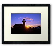 Light House Sunset - Santa Cruz California Framed Print