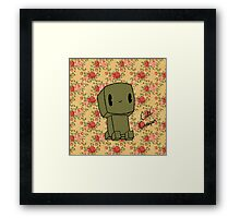 Cute Creeper Framed Print