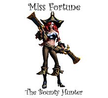 Miss Fortune - The Bounty Hunter League Of Legends (Black Text) Photographic Print